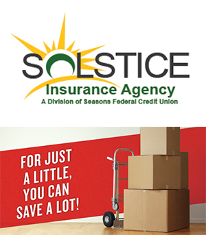 Solstice Insurance Agency Logo. For just a little, you can save a lot.